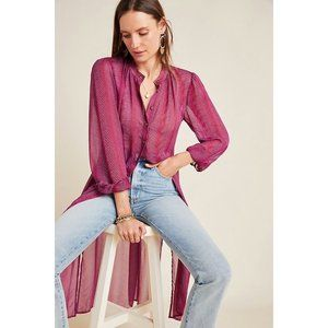 Maeve by Anthropologie Imogen Sheer Tunic